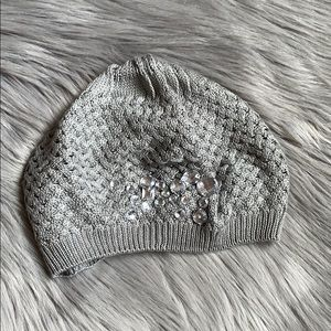 Forever 21 Jeweled Gray Beanie